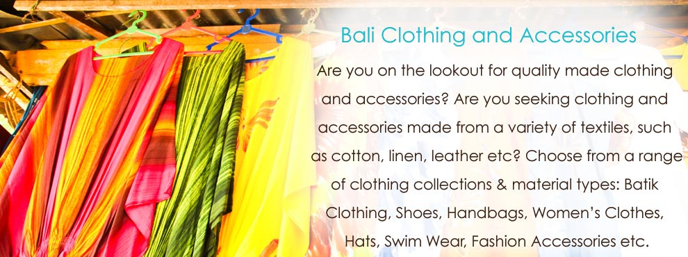 Bali Products Wholesale Clothing