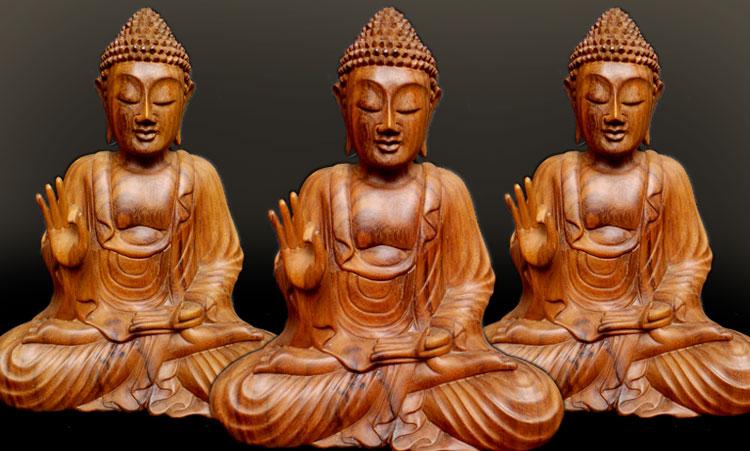 Bali Wooden Buddha Statue