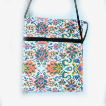 Colourful Small Shoulder Bag - White