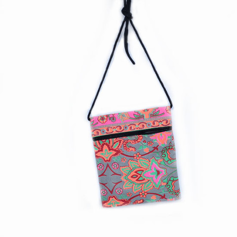 Colourful Small Shoulder Bag - Grey