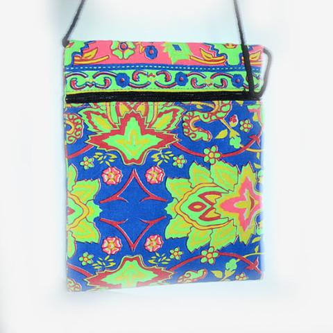 Colourful Small Shoulder Bag - Blue