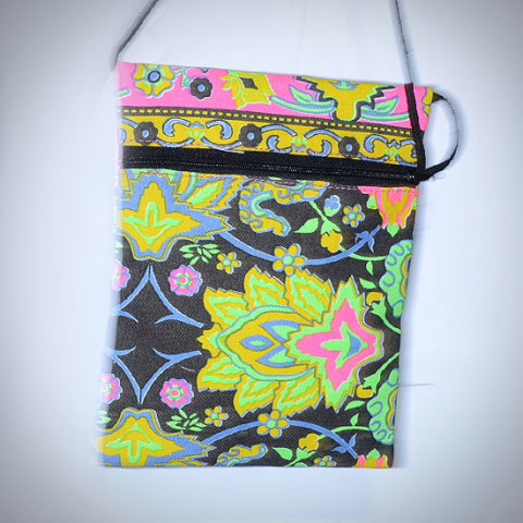 Colourful Small Shoulder Bag - Black