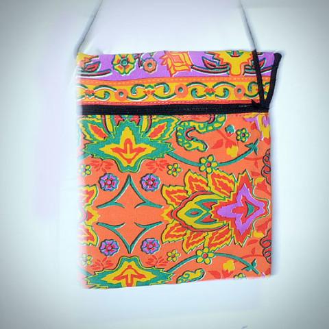 Colourful Small Shoulder Bag - Orange