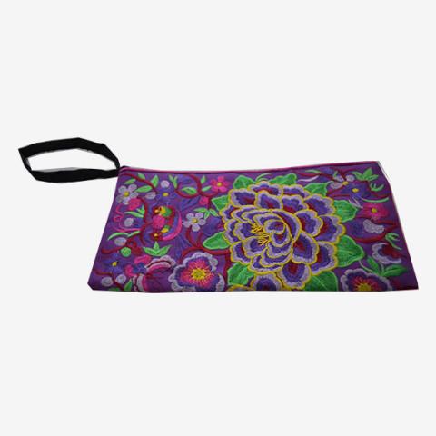 Floral Pouch M - Purple