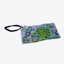 Floral Pouch M - White/Green