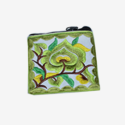 Floral Pouch XS - Green