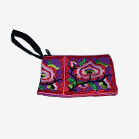 Floral Pouch S - Red