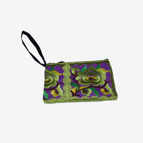 Floral Pouch S - Green
