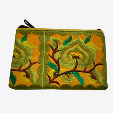 Floral Pouch S - Yellow