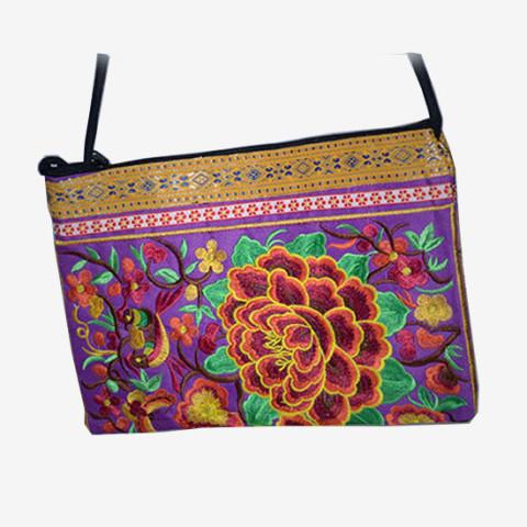 Floral Clutch - Purple