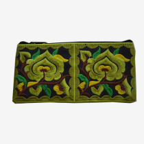 Floral Pouch L - Green