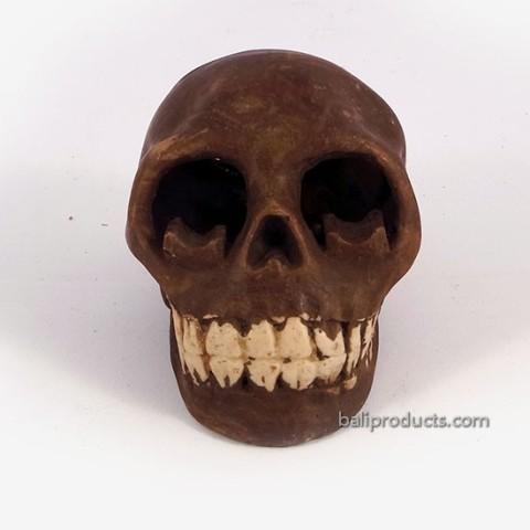 Skull Ashtray Brown