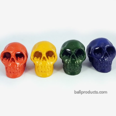 Colourful Skull Ashtray