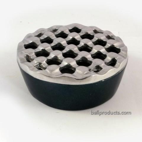 Crown-Ashtray Silver Black