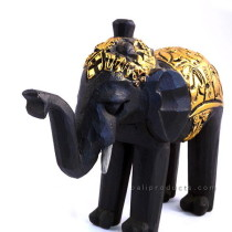 Gold Wooden Elephant