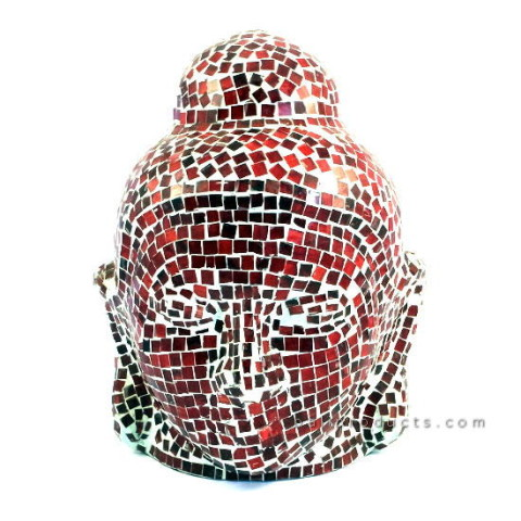 Red Mozaic Buddha Head