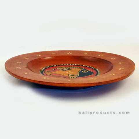 Wooden Plate Fish