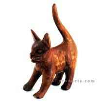 Wooden Cat High Tail