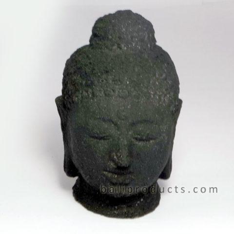 Black Stone Buddha Head 8cm