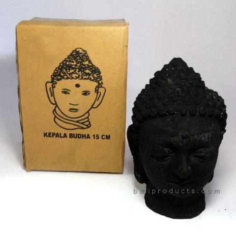 Black Stone Buddha Head 17cm
