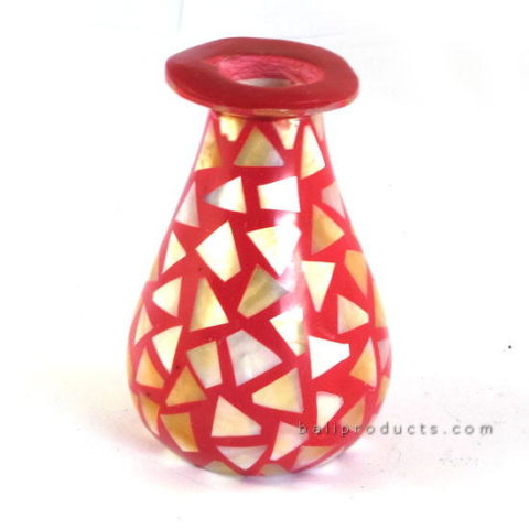 Small Shell Mosaic Vase