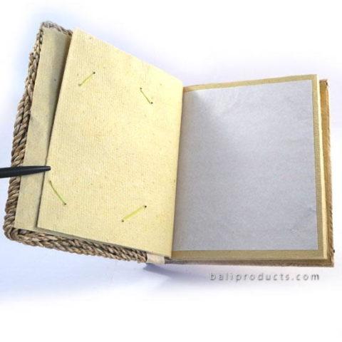BANANA ROPE CIRCLE MOTIF RECYCLE PAPER PHOTO ALBUM SMALL