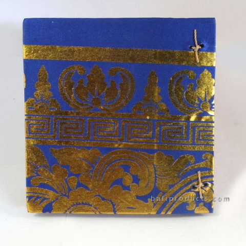 PRADA RECYCLED PAPER PHOTO ALBUM GOLD BLUE SMALL