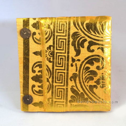 PRADA RECYCLED PAPER PHOTO ALBUM GOLD YELLOW SMALL