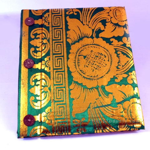 PRADA RECYCLED PAPER PHOTO ALBUM GOLD GREEN MEDIUM