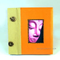 BUDDHA PHOTO ALBUM SMALL ORANGE