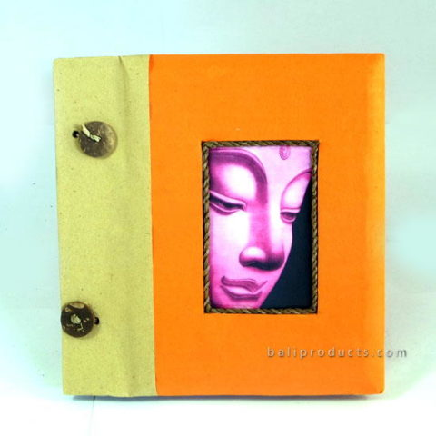 BUDDHA PHOTO ALBUM SMALL ORANGE