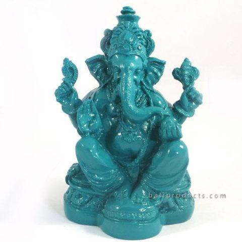 Resin Ganesh Light Blue M