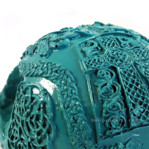 Resin Skullcarving Blue