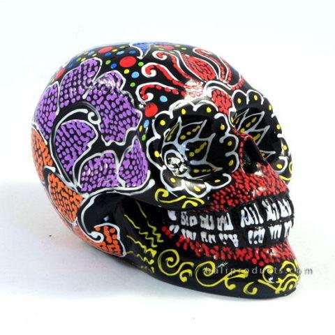 Resin Skull Batik Black