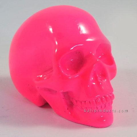 Resin Skull Plain Pink