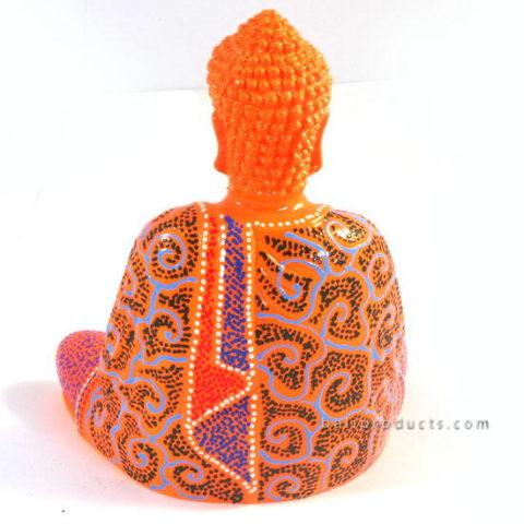 Resin Buddha Batik Orange