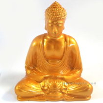 Resin Buddha Plain Gold