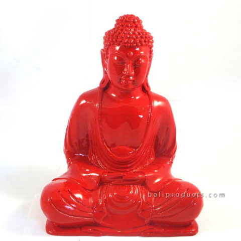 Resin Buddha Plain Red