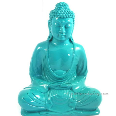 Resin Buddha Plain Blue