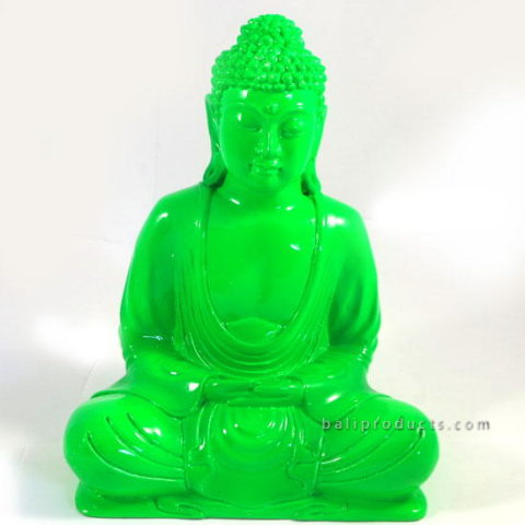 Resin Buddha Plain Green