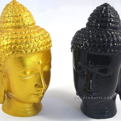 Resin Buddha Head Gold