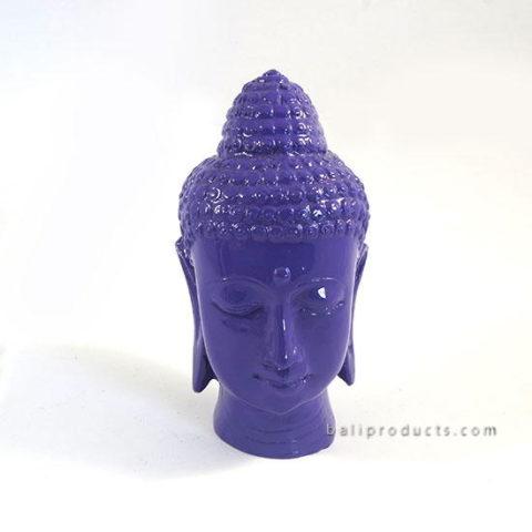 Resin Buddha Head Blue