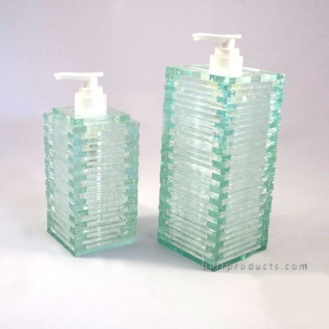 Rectangular Recycled Glass Soap Dispenser