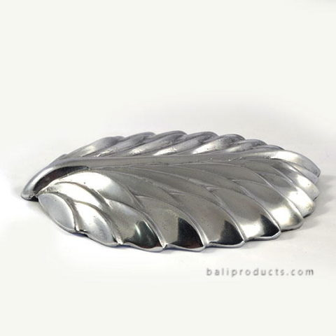 Aluminium Leave Motif Tray