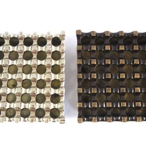 Rectangular Aluminium Ashtray Chrome 18 Holes