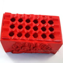 Resin Rectangular Ashtray Red Boma Carving
