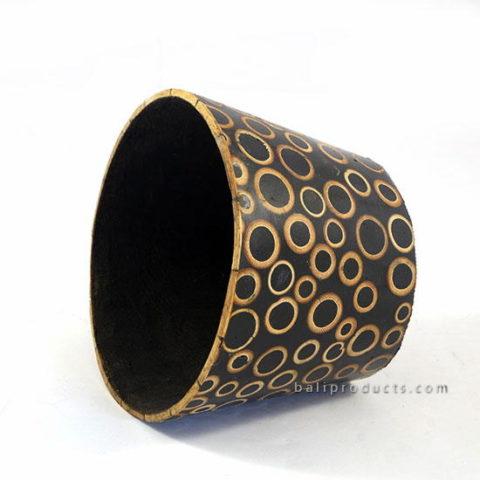 Round Bamboo Resin Bowl