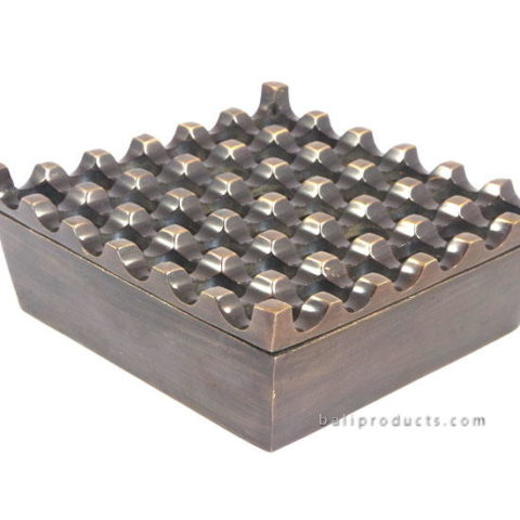Brass Antique Finish Ashtray 36 Holes