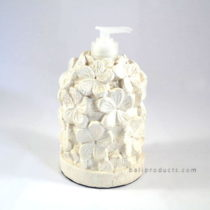 Resin White Cement Flower Soap Dispenser