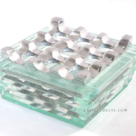 Recycled Glass With Aluminium Ashtray